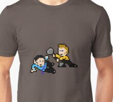 8bit Spock Kirk Amok Time no text Unisex T-Shirt