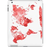 World map in watercolor red iPad Case/Skin