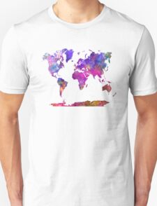 World map in watercolor  T-Shirt