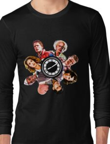 BTTF: Clock Tower MIX (saturated version) Long Sleeve T-Shirt