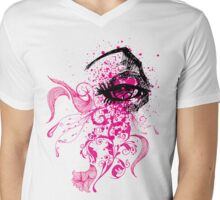 Pink Eye Mens V-Neck T-Shirt