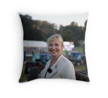 Carol Kirkwood BBC Throw Pillow