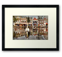 The world from a Swan's point of view Framed Print