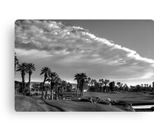 DESERT GOLF DREAM - BW Canvas Print
