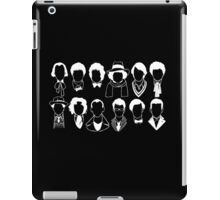 The Twelve Doctors - Doctor Who - White iPad Case/Skin