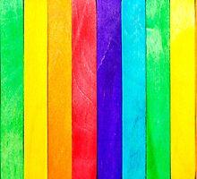Abstract Rainbow Wood Fence by MMPhotographyUK