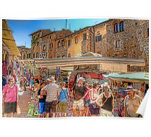 San Gimignano Market Poster