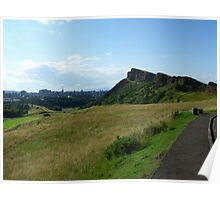 Edinburgh From Holyrood Park Poster