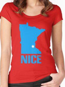 Minnesota nice geek funny nerd Women's Fitted Scoop T-Shirt