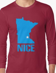 Minnesota nice geek funny nerd Long Sleeve T-Shirt