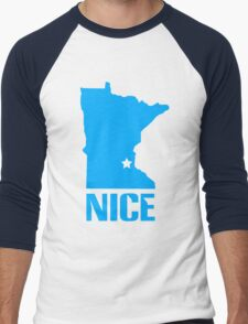 Minnesota nice geek funny nerd Men's Baseball ¾ T-Shirt