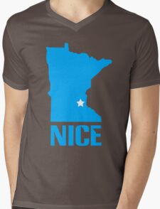 Minnesota nice geek funny nerd Mens V-Neck T-Shirt