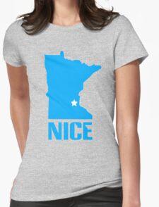 Minnesota nice geek funny nerd Womens Fitted T-Shirt