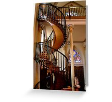 Loretto Chapel Miraculous stairs Greeting Card
