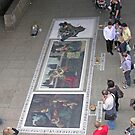 Imitation, the sincerest form of flattery: pavement art on London's South Bank. by Philip Mitchell