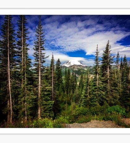 Mt Rainier Landscape Sticker