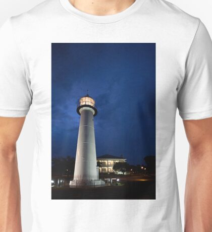 Biloxi Lighthouse at Night Unisex T-Shirt