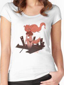 Neko Girl Women's Fitted Scoop T-Shirt