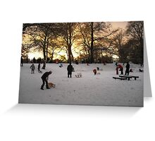 As hilly as it gets in Zuid-Holland! Greeting Card