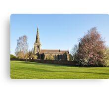 St Mary's Church, Rolleston on Dove Canvas Print
