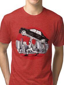 Pedestrian Up Car Tri-blend T-Shirt