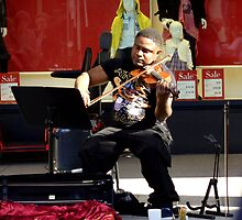 Classical music on the street by Charmiene Maxwell-batten