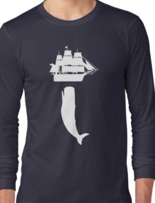 Moby dick rising geek funny nerd Long Sleeve T-Shirt