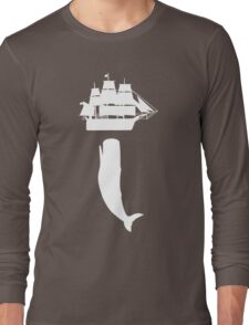 Moby dick rising geek funny nerd Long Sleeve T-Shirt