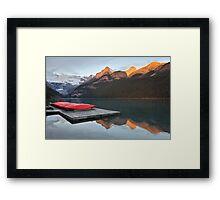 Lake Louise Jetty Framed Print