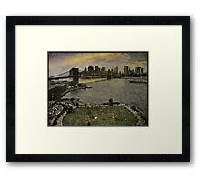 View from the Manhattan Bridge, Brooklyn USA Framed Print