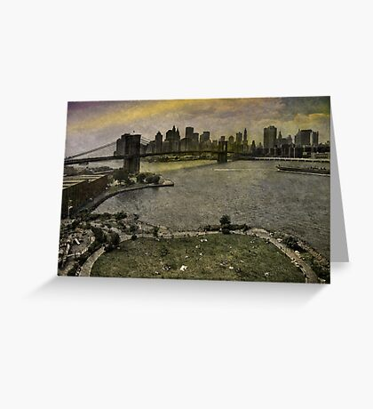View from the Manhattan Bridge, Brooklyn USA Greeting Card
