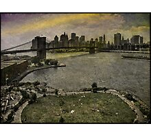 View from the Manhattan Bridge, Brooklyn USA Photographic Print