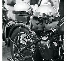 Motorcycle detail, Goodwood Revival Photographic Print