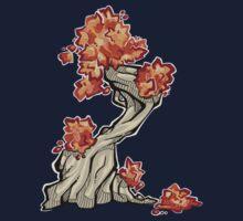 Tree - autumn One Piece - Long Sleeve