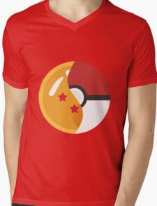 Pokeball Z Mens V-Neck T-Shirt