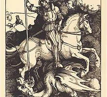 Albrecht Dürer or Durer Saint George Killing the Dragon by wetdryvac