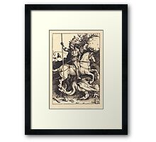 Albrecht Dürer or Durer Saint George Killing the Dragon Framed Print