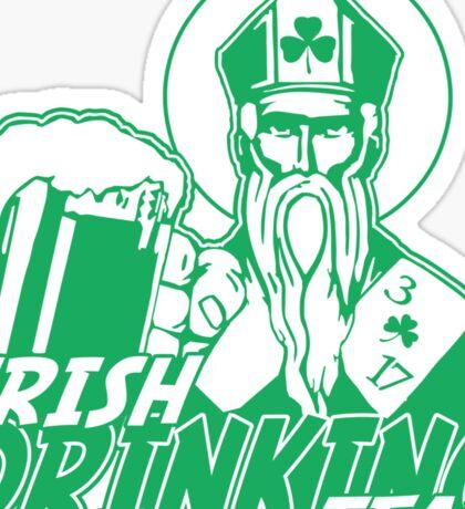 Irish Drinking Team St Patrick Sticker