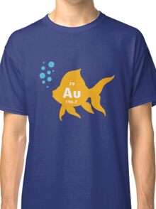 Periodic table elemental gold fish geek funny nerd Classic T-Shirt