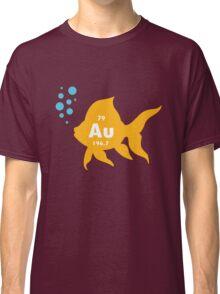 Periodic table elemental gold fish geek funny nerd Classic T-Shirt