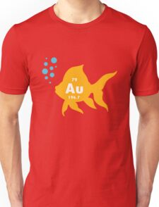 Periodic table elemental gold fish geek funny nerd Unisex T-Shirt