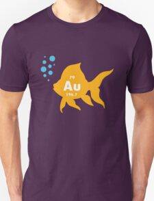 Periodic table elemental gold fish geek funny nerd T-Shirt