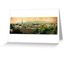 Ol' Zurich town Greeting Card