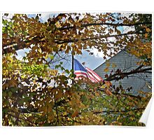 Flag - Fall - Fallen Veterans Poster