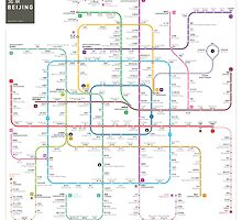 Beijing subway map by Jug Cerovic