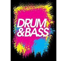 Drum & Bass (splash) Photographic Print