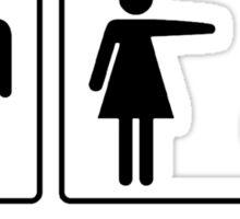 Problem solved for girl geek funny nerd Sticker