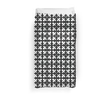 Black and White Geometric Arrow Pattern Duvet Cover