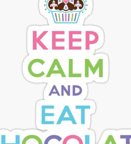 Keep Calm and Eat Chocolate  - lights Sticker