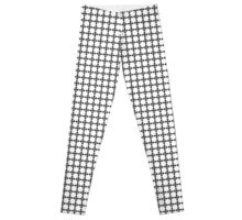 Black and White Geometric Arrow Pattern Leggings